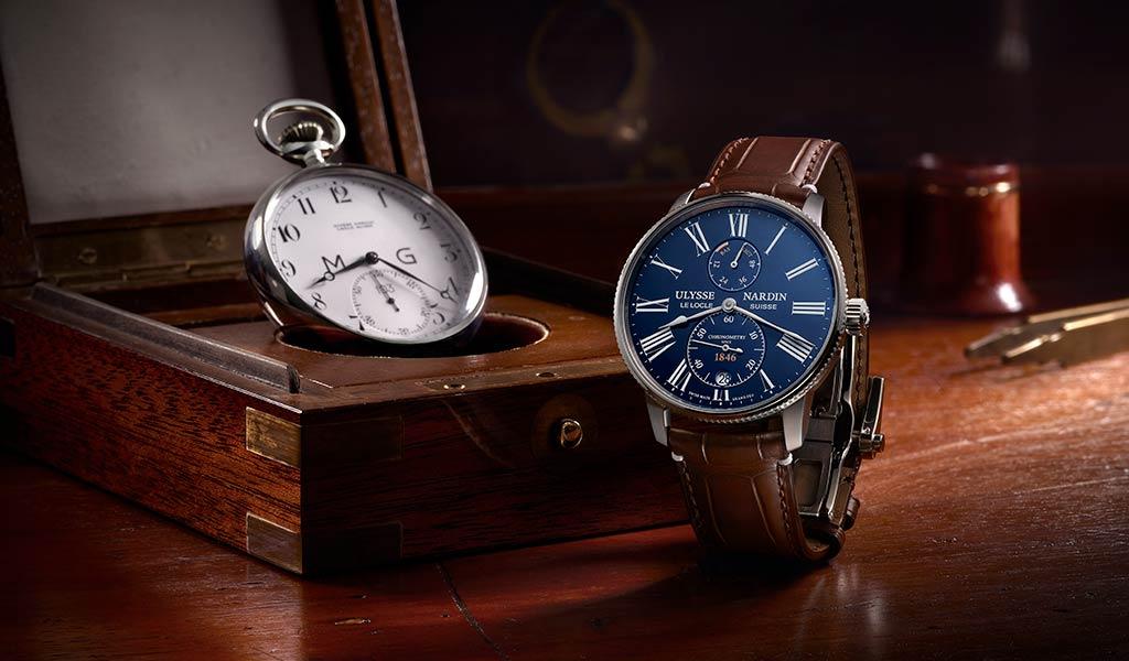 Часы Ulysse Nardin Marine Torpilleur Blue Enamel