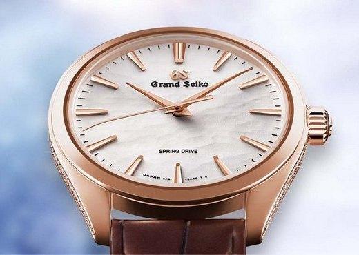 Часы Grand Seiko SBGY008 с белоснежной текстурой циферблата