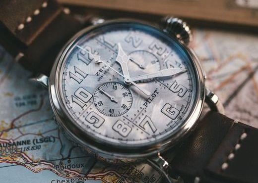 Zenith Pilot Type 20 Chronograph Silver вдохновленные самолетами
